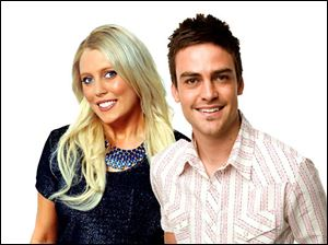 2 Day FM radio presenters Mel Greig, left, and Michael Christian during their radio show impersonated Britain's Queen Elizabeth II and the Prince of Wales to dupe hospital staff into giving information on the condition of the former Kate Middleton.