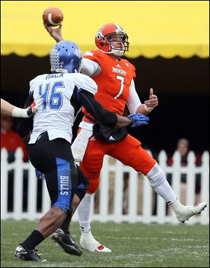 Bowling Green quarterback Matt Schilz and his teammates will face San Jose State in the Military Bowl on Dec. 27 in Washington, D.C.