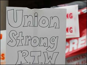 Union members and their supporters were out in full force in Lansing.