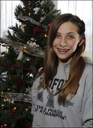 Jamie Poignon at her home.  Jamie turns 12 on 12/12/12.