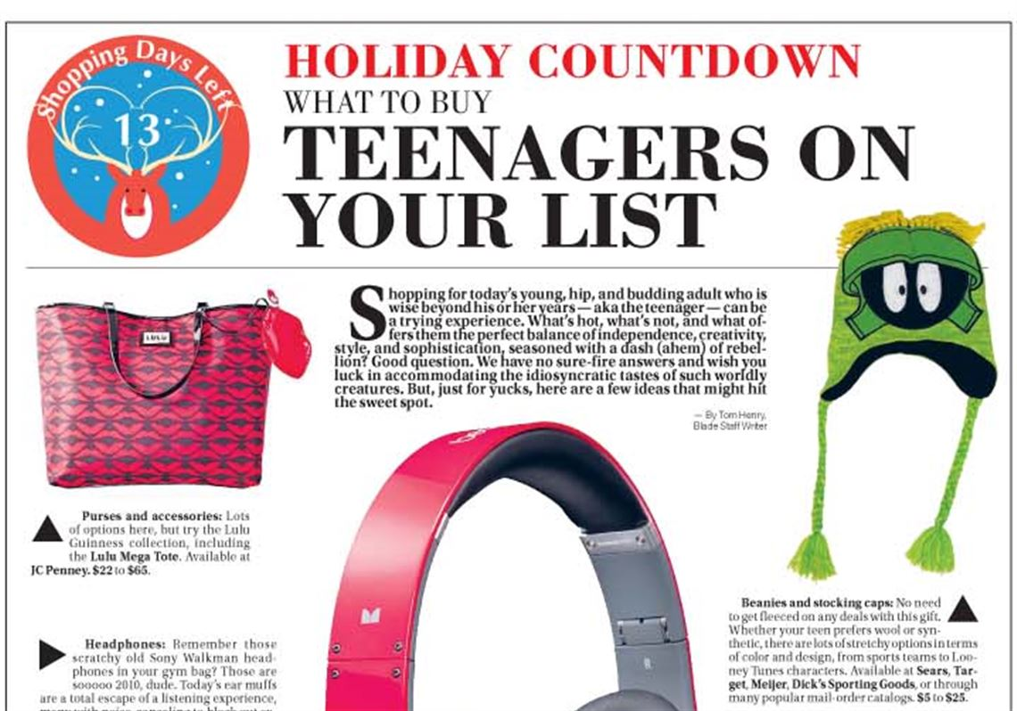 Holiday Countdown Gift Guide: What to buy teenagers | Toledo