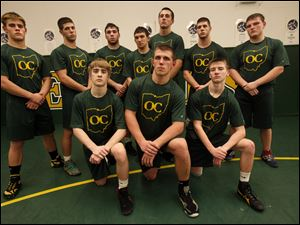 Clay is the favorite to win the Three Rivers Athletic Conference title with (front, from left) Richie Screptock, Jarred Gray, Jared Davis, and (back) Nick Stencel, Damon Dominique, Carmelo Amenta, Brian Henneman, Eddie Silva, Devin Dominique, and Robert Rank.