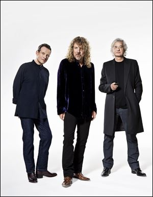 Members of Led Zepplin, from left, John Paul Jones, Robert Plant and Jimmy Page.