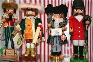 A variety of Nutcracker dolls can be seen at The Whitney Shop in New Canaan, Conn. The wooden dolls, many of which will really crack your walnuts and macadamias, are increasingly popular in holiday decor.