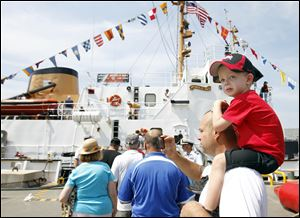 Vessels in town for Navy Week in August drew crowds to visit the ships tied up on both sides of the Maumee.