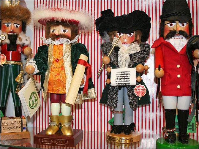 Homes-Nutcrackers A variety of Nutcracker dolls can be seen at The Whitney Shop in New Canaan, Conn. The wooden dolls, many of which will really crack your walnuts and macadamias, are increasingly popular in holiday decor.