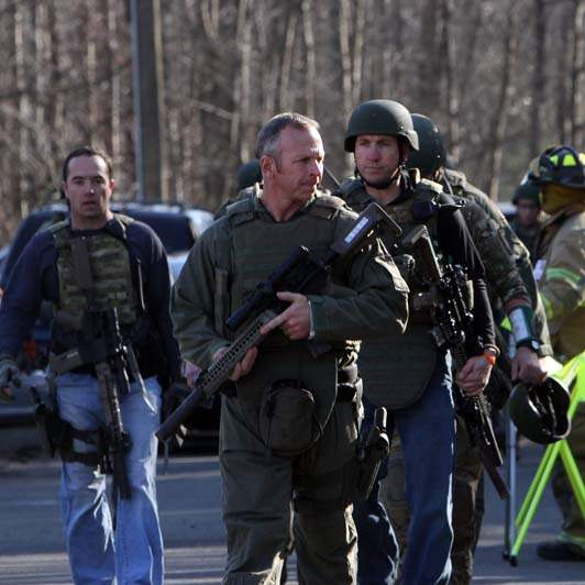 Scenes From Sandy Hook: Connecticut School Tragedy