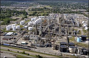 This refinery in Canton, Ohio, is one of four in the Midwest where Marathon Petroleum Corp. can refine light sweet crude. the others are in Detroit, Catlettsburg, Ky., and Robinson, Ill.