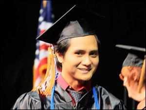 Johannes Ronquillo graduates magna cum laude with a Bachelor of Music and a Bachelor of Science in Computer Science and Engineering Technology.