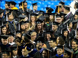 Some of the graduating students of the University of Toledo.