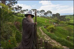 Ian McKellen as Gandalf in a scene from the fantasy adventure