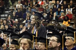 Katrin McBroom is recognized for graduating with University Honors during Bowling Green State University's 275th fall commencement.