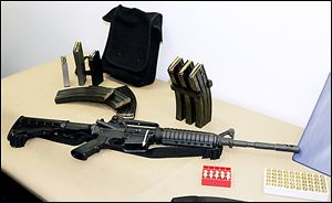 An AR-15 semiautomatic rifle is among the military-style assault weapons that would be affected by a renewed ban.
