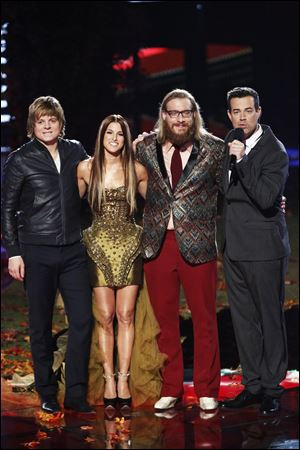 "Cassadee Pope, coached by Blake Shelton, has been a strong contender for a majority of the season, especially after she performed an emotional rendition of Miranda Lambert's ""Over You,"" which became a hit on the iTunes chart."