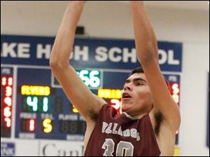 Rossford sophomore Hector Aguirre puts up a field goal during the third quarter.