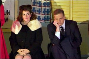 Tracy Glover plays Betty Haynes and Denny Connors is Bob Wallace in 'Irving Berlin's White Christmas.'