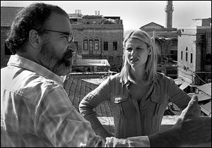 Claire Danes as Carrie Mathison, right, and Mandy Patinkin as Saul Berenson in a scene from the second season of 'Homeland.'