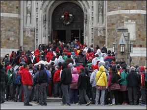 Central Catholic students make their annual Advent Pilgrimage to Rosary Cathedral in Toledo, Ohio.