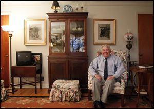 Barney Stickles decorates with antiques in his home. Study before you buy, he says.