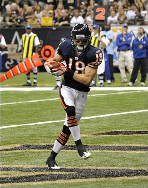 Chicago Bears wide receiver Dane Sanzenbacher caught 27 passes in 16 games last year as a rookie.