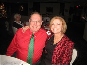 David Mellor and Valerie Liebert at the Toledo Ski Club's Christmas party.