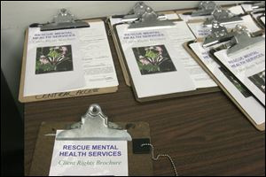Rescue Mental Health Services works with the mentally ill locally. Others include the National Alliance on Mental Health, the Zepf Center, and Unison.