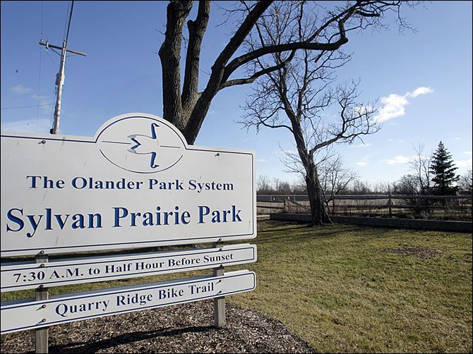 NBRW park24p 12-24 The entrance to Sylvan Prairie Park along Brint Road. The Olander Park System has received grant monies that will allow the  park system to purchase more property for the park.