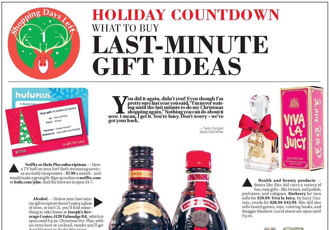 Holiday Countdown Gift Guide: What to buy at the last minute ...