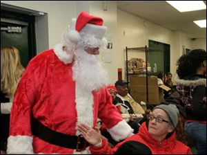 Roxanne Batway asks Santa Claus that her friend's Supplemental Security Income checks begin to arrive.