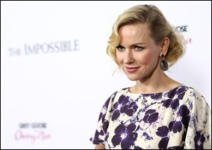Actress Naomi Watts has received best-actress nominations from the Screen Actors Guild and the Golden Globes for her portrayal of Maria, who's separated from her husband and two youngest boys, and caught in a raging current of water and debris with her oldest son (a remarkable Tom Holland).