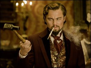 "Leonardo DiCaprio plays Calvin Candle in ""Django Unchained."""