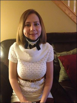 Halley Briglia, in a neck brace to help her recover, is interviewing for residency programs.