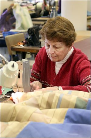 Community Hero Eileen Beegle makes sleeping bags for the homeless in Cleveland Heights.
