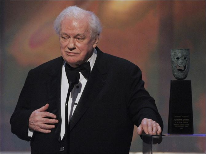 Obit Charles Durning Charles Durning accepts the life achievement award at the 14th Annual Screen Actors Guild Awards in January, 2008.