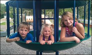 From left, Logan, Madalyn and Paige Hayes whose bodies were found in a garage with the bodies of their grandmother Sandy Ford and uncle Andy Ford November 12, 2012. The deaths were the result of a murder-suicide.