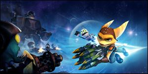A screen shot from Ratchet & Clank: Full Frontal Assault.