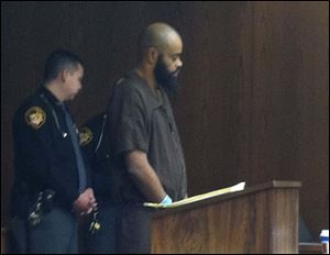 Robert Carter appears in Toledo Municipal Court today.