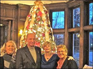 Lucas County residents Mary Beth Kamper, Bill Wolfe, Linda Stacy, and Carol Van Sickle, former speaker of the Ohio House of Representatives, at Governor Kasich's holiday gathering in Columbus.