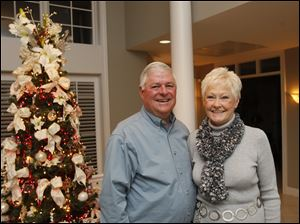 Bill and Joan Michael, of Maumee, during the Toledo Yacht Club holiday party in Sylvania.