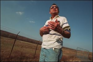 Another Hazelton worker and beryllium victim, Al Matusick, visits the razed site of the former plant.