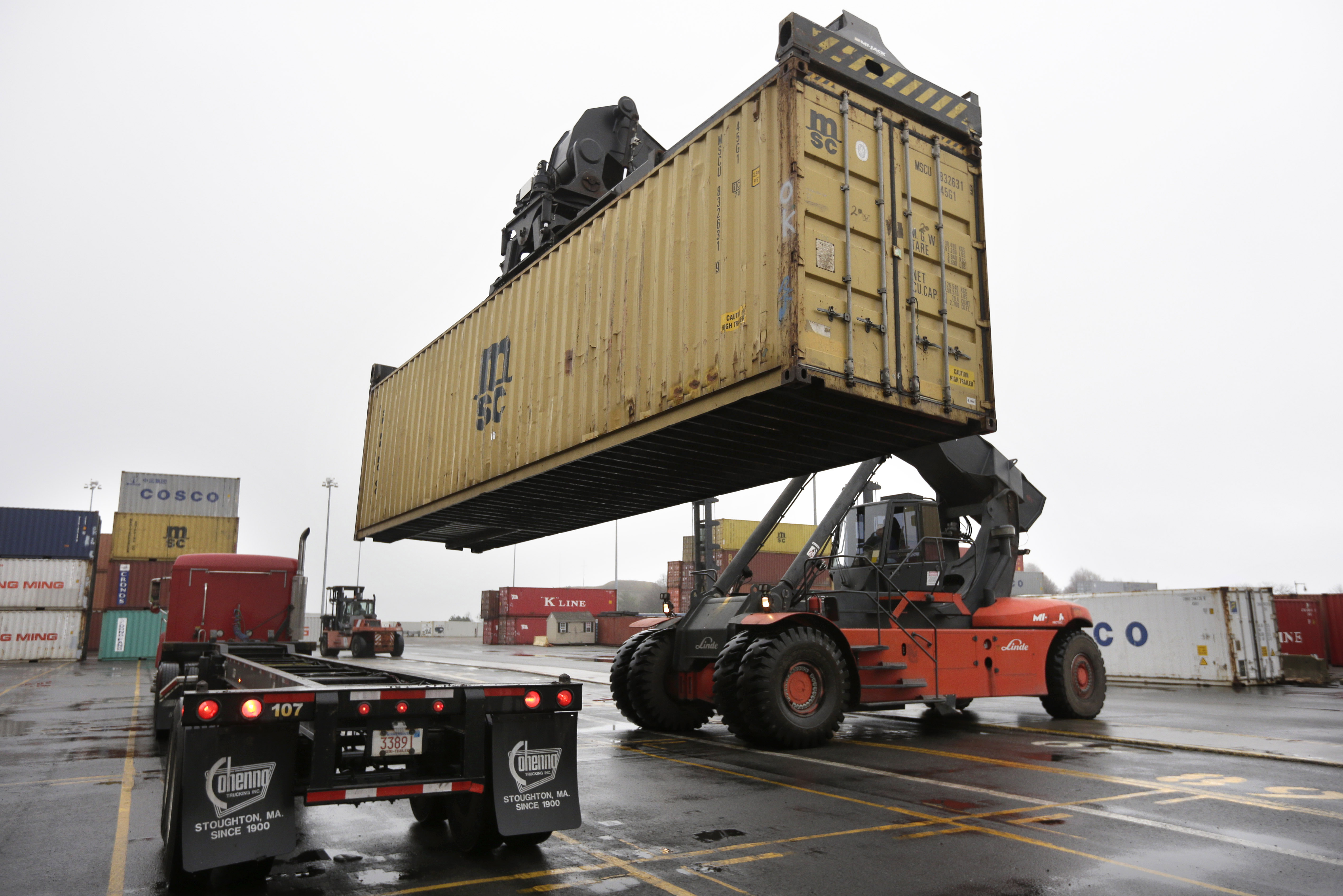 Shipping Container Trailer >> Deal reached to avert U.S. port strike for now - The Blade