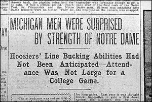 The Blade's headline for the 1902 story on the big game notes the lower-than-expected turnout.
