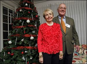 Carol and John Morava, event chairmen of the Christ Child Society's Christmas party.