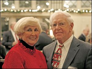 Joe and Sheila Jordan at the Christ Child Society's annual Christmas party.