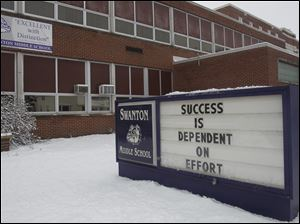 Swanton Middle School was named among the top 2 percent of high-achieving buildings in the state by the Ohio Department of Education, based on a ranking from Battelle for Kids.