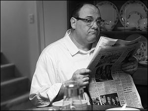 James Gandolfini plays Pat in a scene from the film 'Not Fade Away.'
