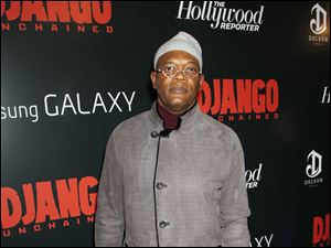 "Actor Samuel L. Jackson arrives at a special screening of ""Django Unchained,"" at The Ziegfeld Theatre in New York."