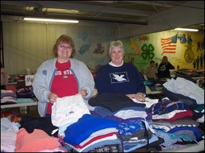 Event coordinators of the Paulding United Methodist TGIF Giveaway (from L-R) Vicki Kadesch and Sue Wannemacher.