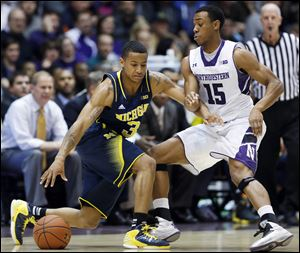 Trey Burke, who is averaging a team-leading 17.8 points coming in, scored 15 of his 23 points in the first half.