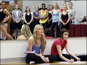 Amanda Recko, left,  and Lisa Jones hold dance auditions for Cedar Point's Live Entertainment Division.